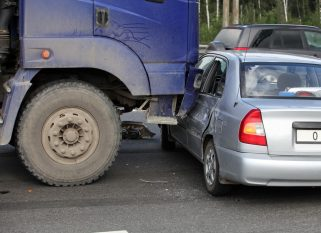 What to do if involved in an accident with a truck